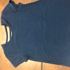 Blue cross back t-shirt